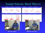 sample patterns mock thieves