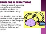problems in brain timing