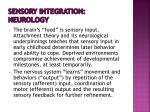 sensory integration neurology