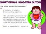 short term long term outcomes