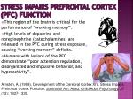 stress impairs prefrontal cortex pfc function