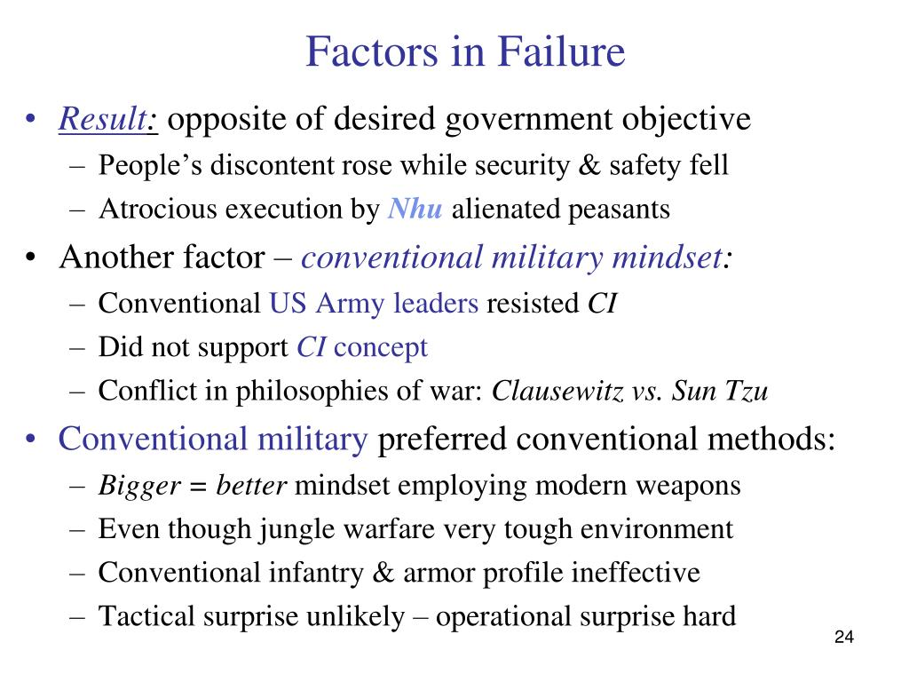 Factors in Failure