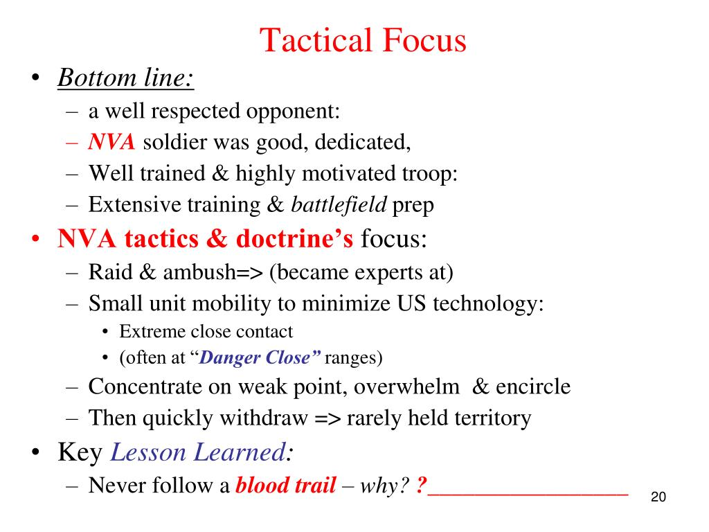 Tactical Focus