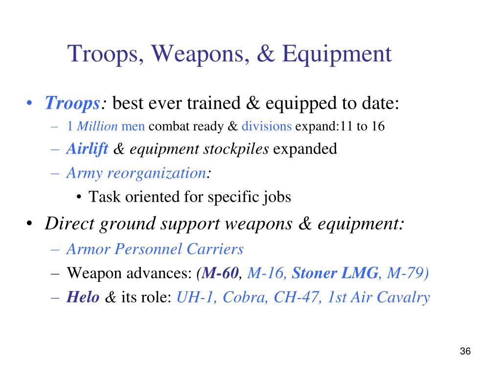 Troops, Weapons, & Equipment