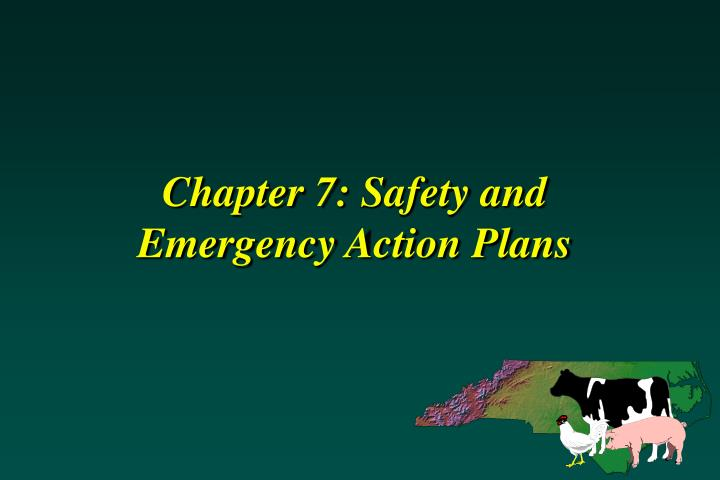 chapter 7 safety and emergency action plans n.