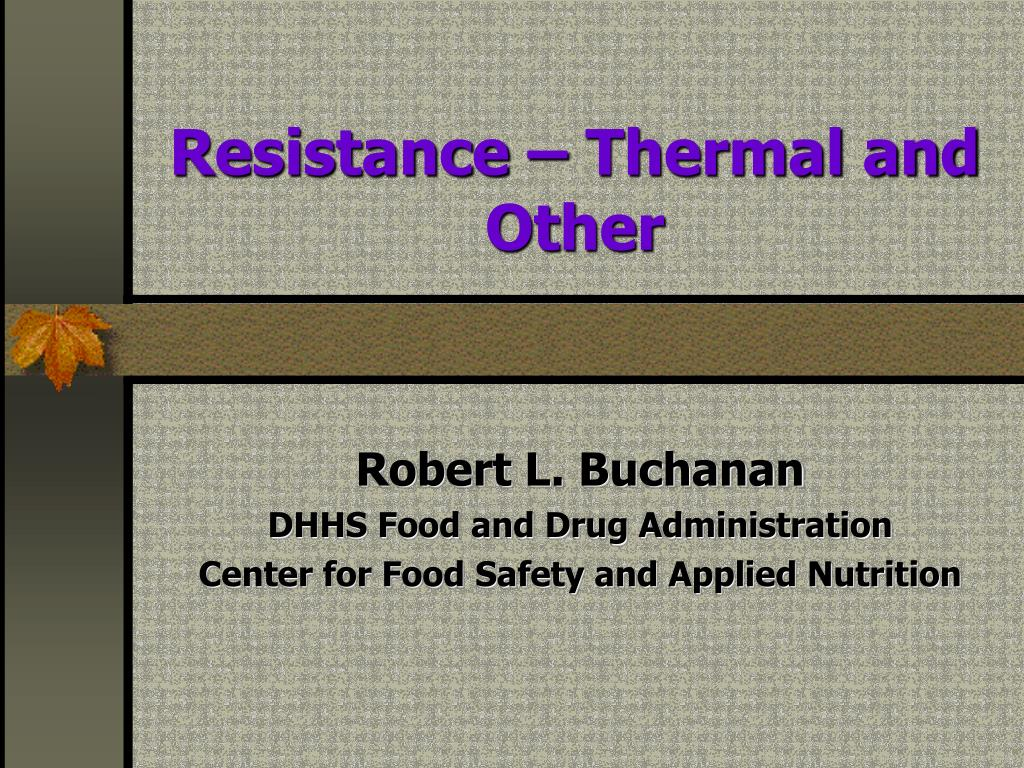 resistance thermal and other l.