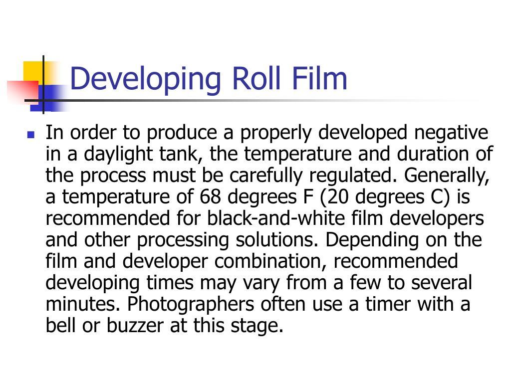 Developing Roll Film