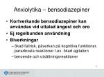 anxiolytika bensodiazepiner
