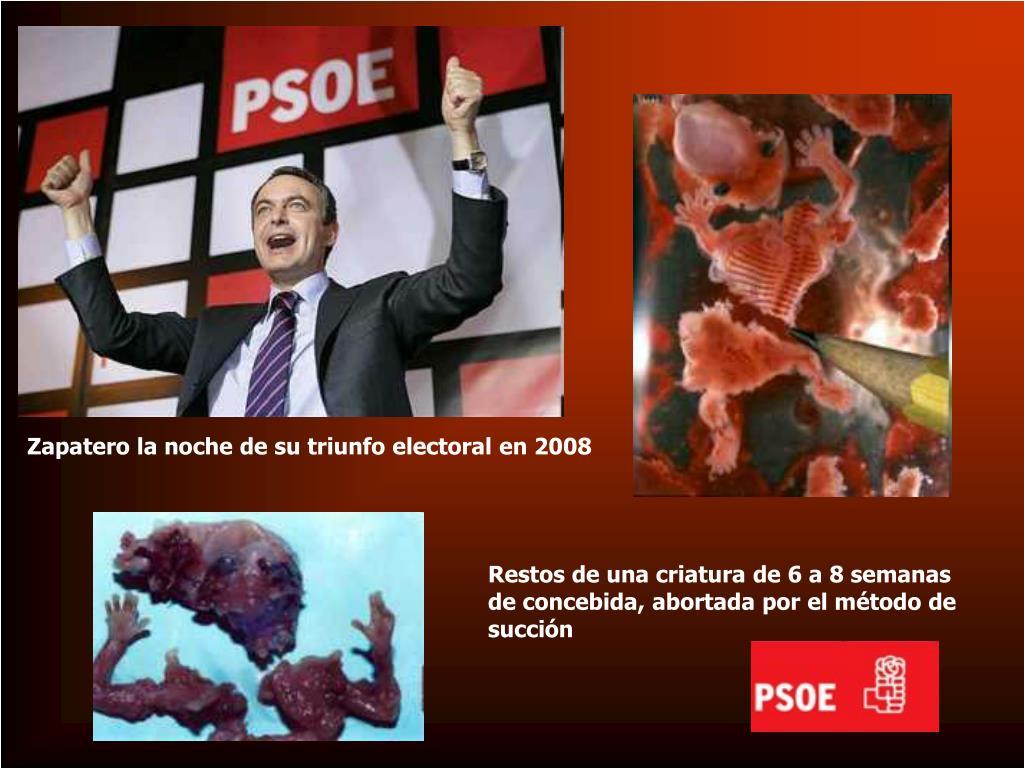 Zapatero la noche de su triunfo electoral en 2008