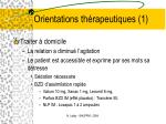 orientations th rapeutiques 1