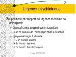 urgence psychiatrique