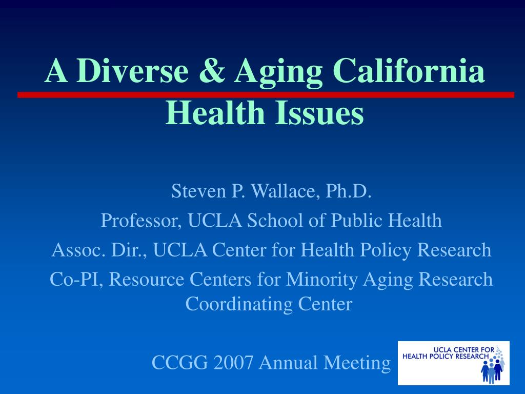 a diverse aging california health issues