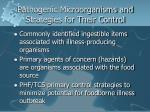 pathogenic microorganisms and strategies for their control
