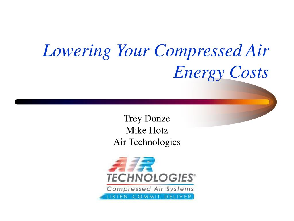 lowering your compressed air energy costs l.