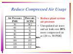 reduce compressed air usage26