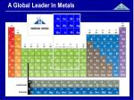 a global leader in metals