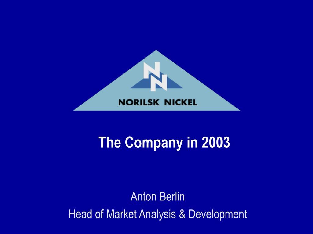 the company in 2003 l.