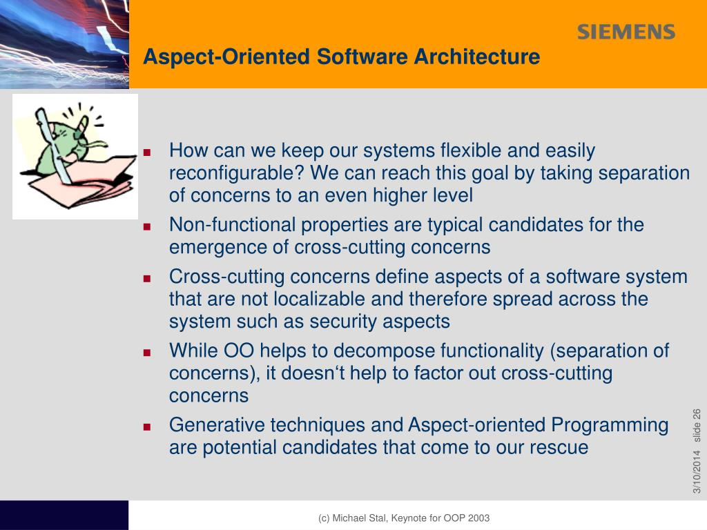 Aspect-Oriented Software Architecture