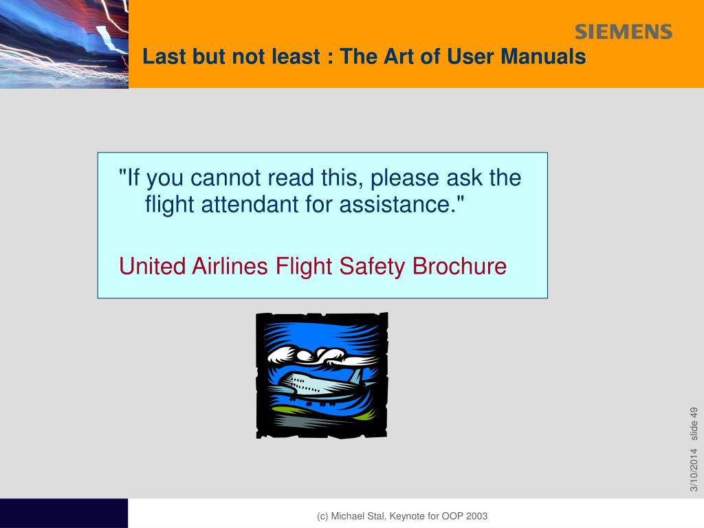 Last but not least : The Art of User Manuals
