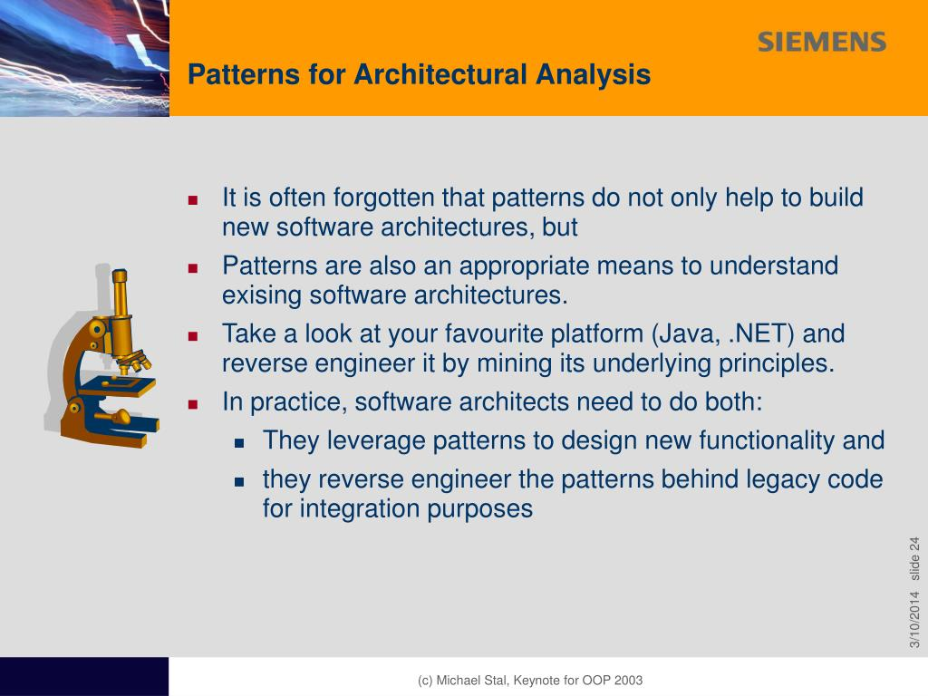 Patterns for Architectural Analysis