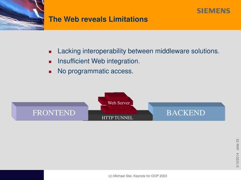 The Web reveals Limitations