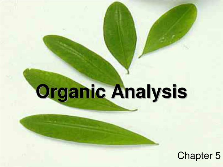 organic analysis n.
