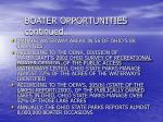 boater opportunities continued
