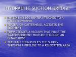 hydraulic suction dredge