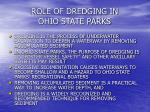 role of dredging in ohio state parks