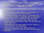 sedimentation its sources and impact on boating