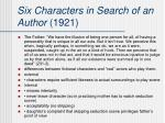 six characters in search of an author 1921