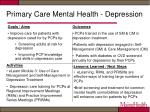 primary care mental health depression
