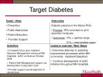 target diabetes