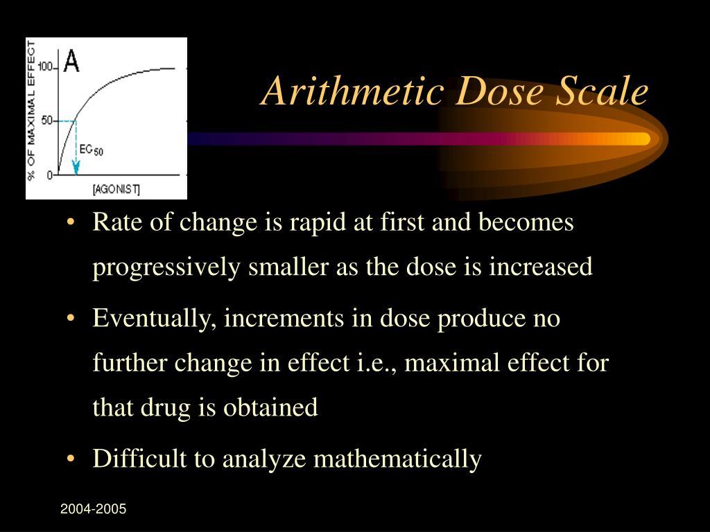 Arithmetic Dose Scale