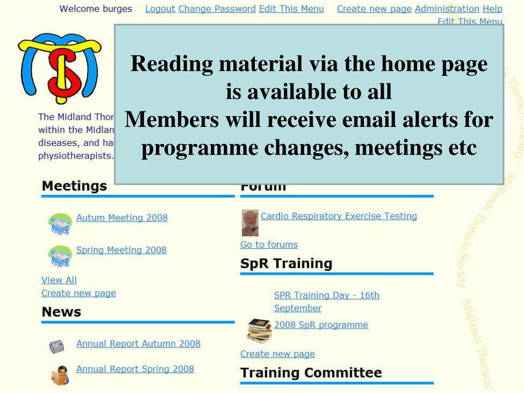 Reading material via the home page is available to all