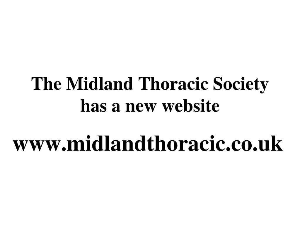 the midland thoracic society has a new website l.