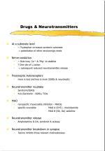 drugs neurotransmitters