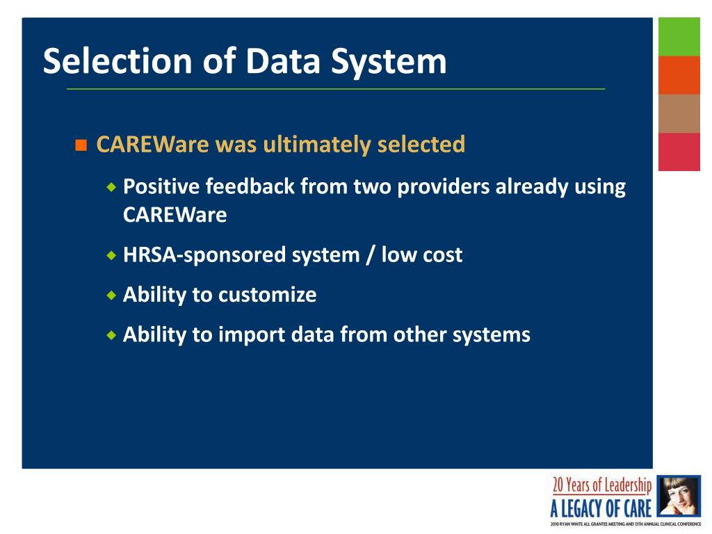 Selection of Data System