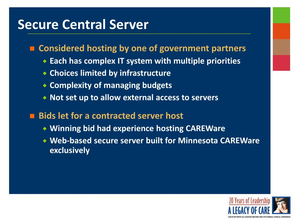 Considered hosting by one of government partners