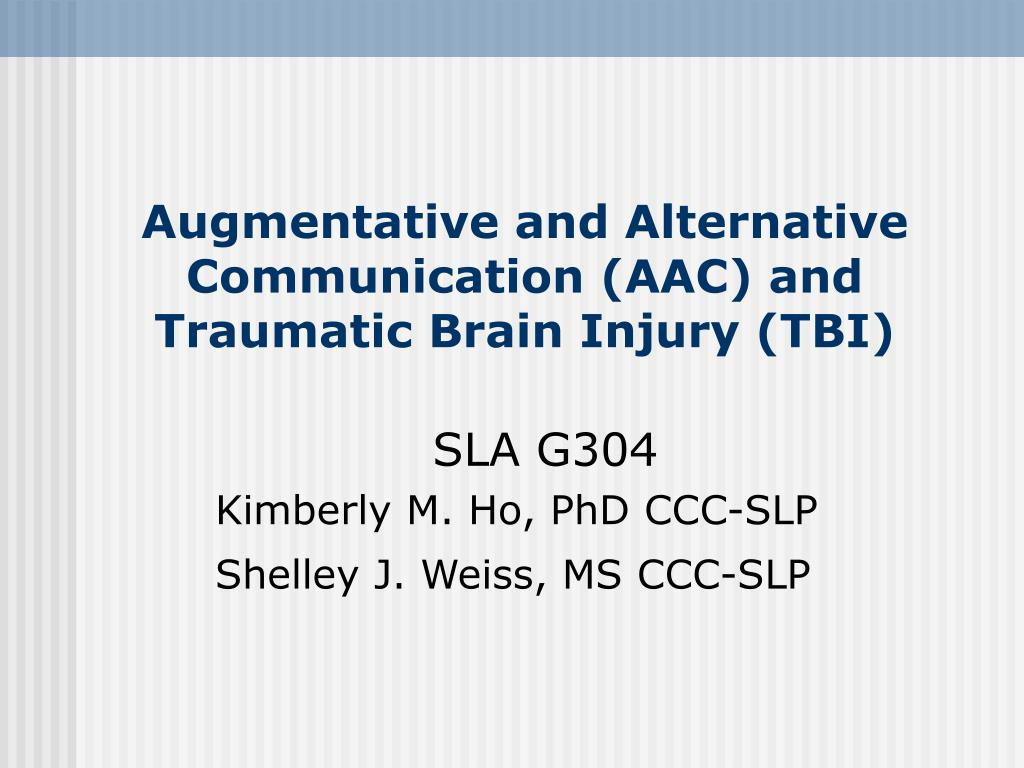 augmentative and alternative communication aac and traumatic brain injury tbi l.