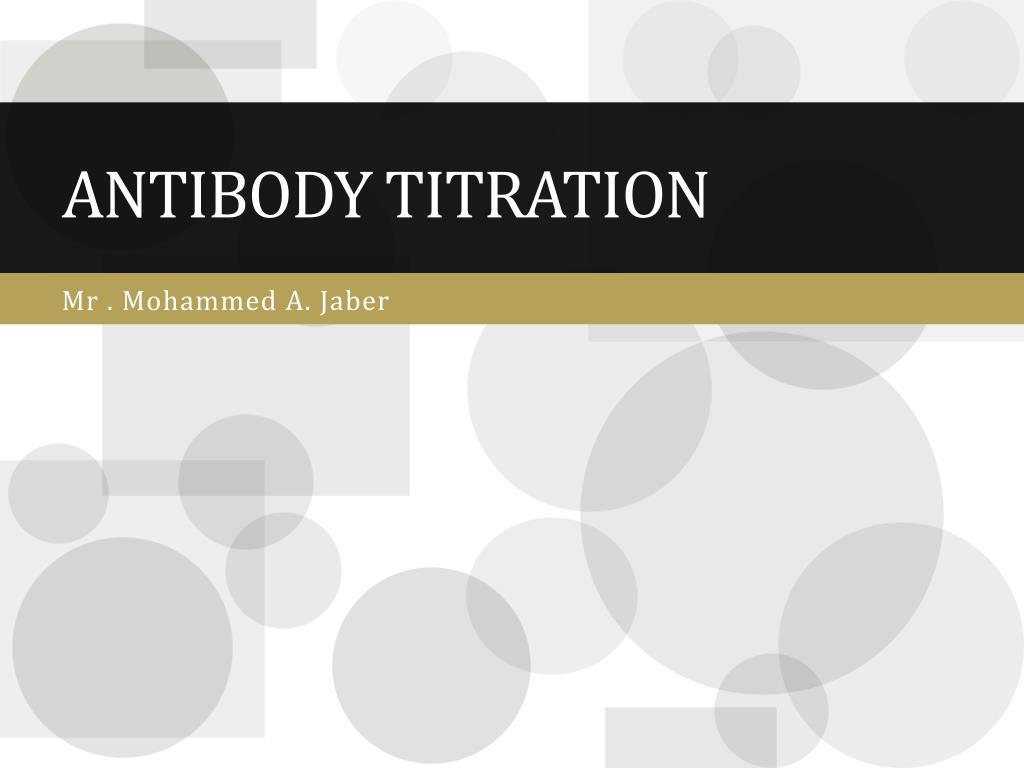 antibody titration l.