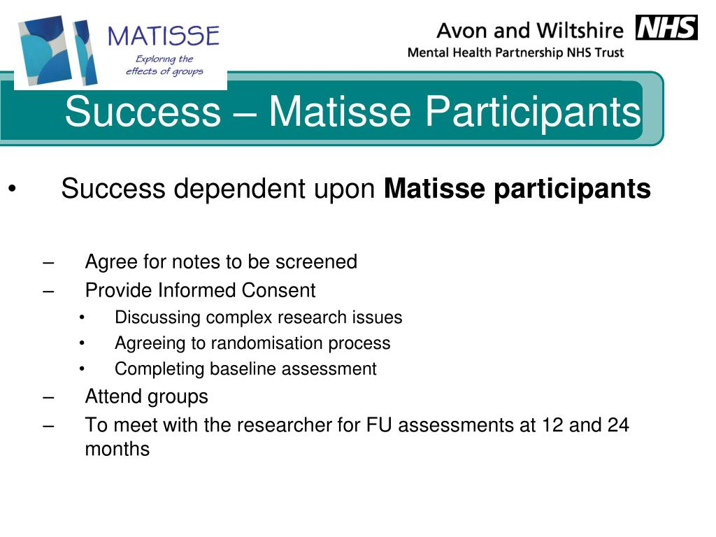 Success – Matisse Participants