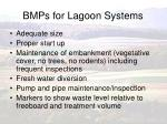 bmps for lagoon systems