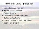 bmps for land application