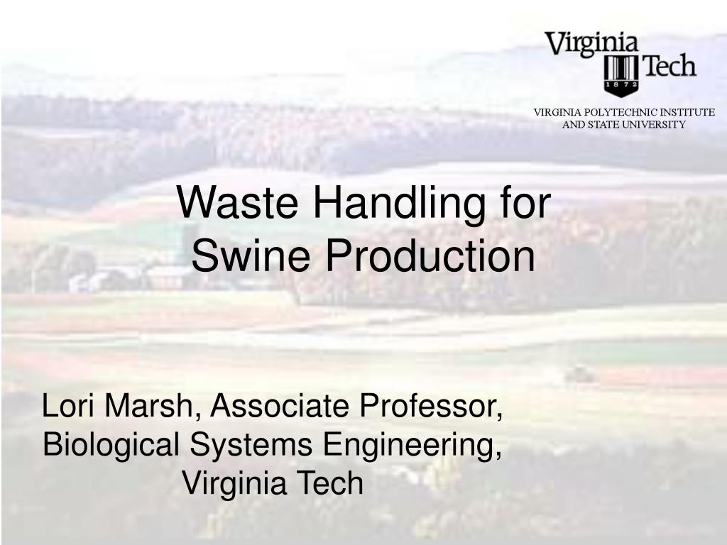 waste handling for swine production l.