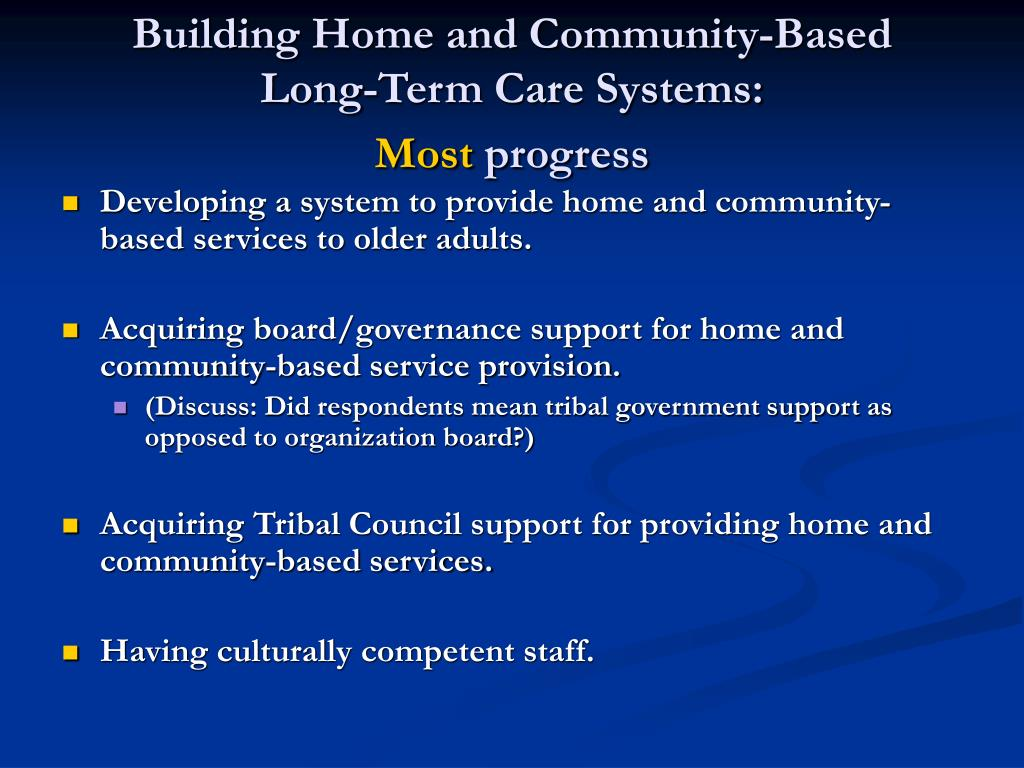 Building Home and Community-Based