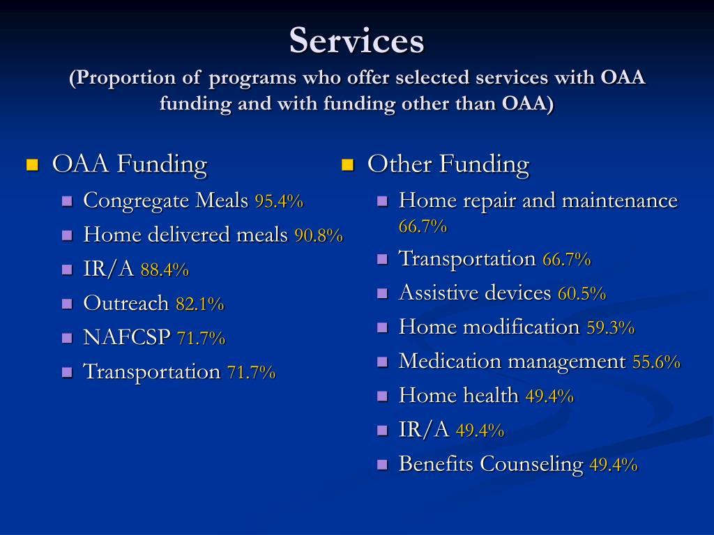 OAA Funding