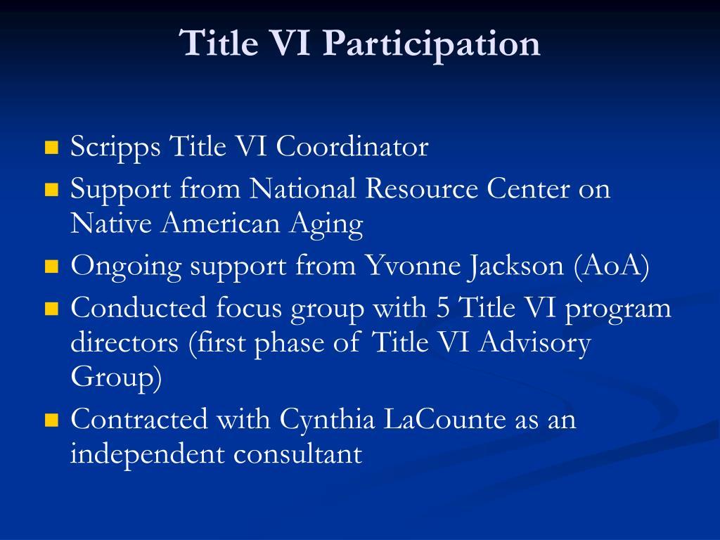Title VI Participation