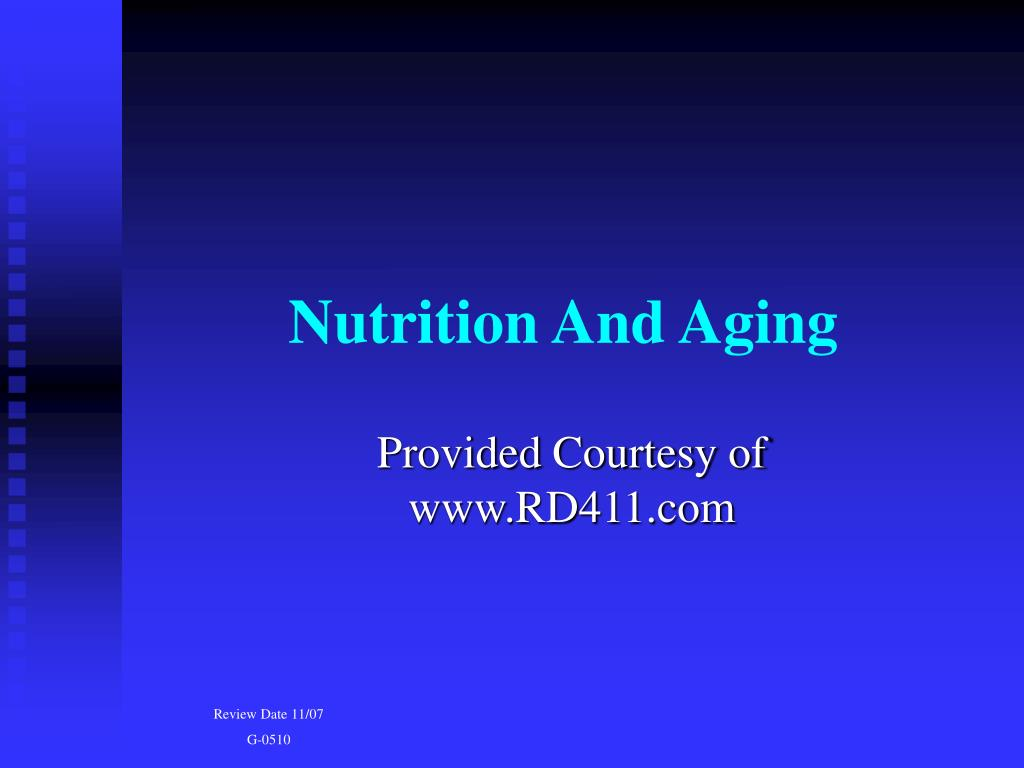 nutrition and aging l.