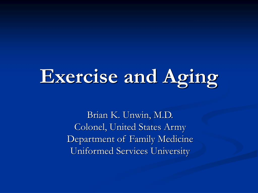exercise and aging l.